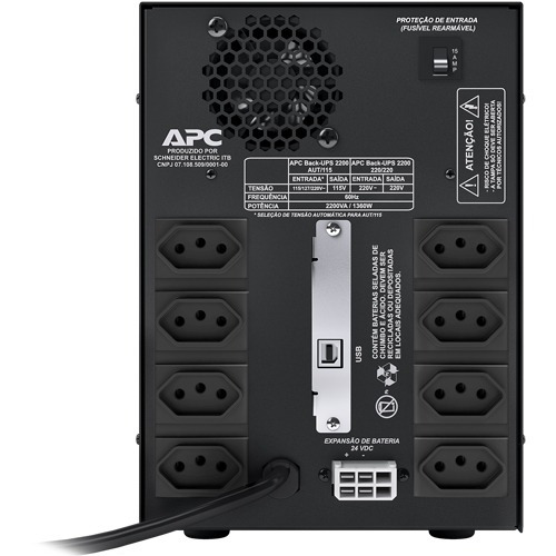 no-break gerenciável apc back-ups 2200va bi-volt 110v/220v