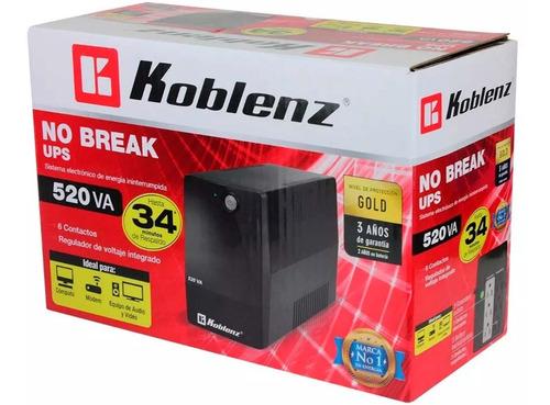 no break koblenz 520v 240w 6contactos 5216/r
