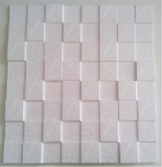 N o papel de parede placa de gesso 3d mosaico xadrez - Placas de vinilo para paredes ...