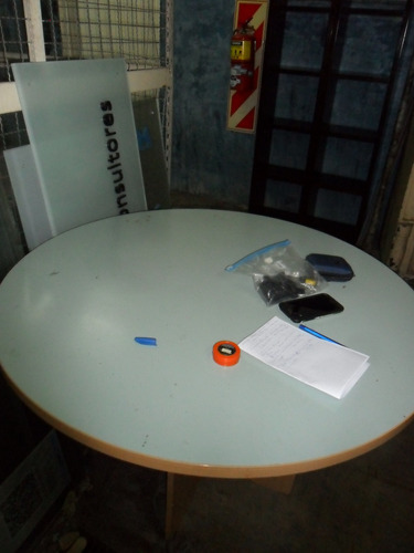 no envio pequeña mesa redonda para reuniones - 1 m diametro