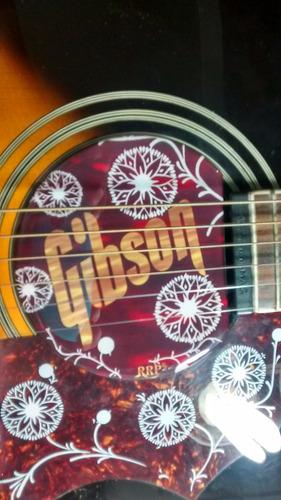 no feedback violão gibson com captador na boca