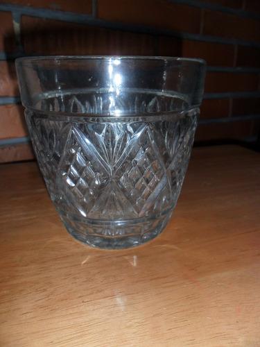 no hago envios antigua hielera de vidrio tallado