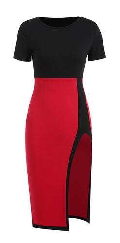 no.1 elegante blusa falda vestido 2 en 1 moda casual