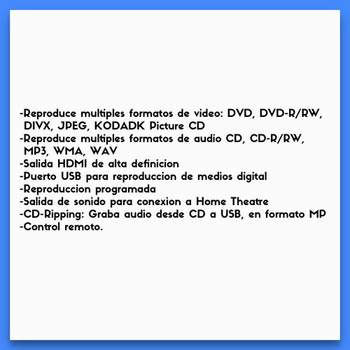noblex dvh2000 reproductor dvd 5.1 cd mp3 c/usb ripping hdmi