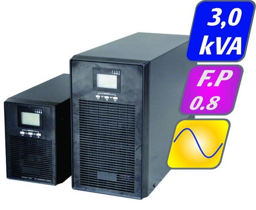 nobreak senoidal g4 3kva 2,4kw 220v autonomia 10 minutos