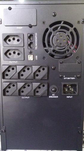 nobreak senoidal puro g4 3kva 2400w 220v aut 10 minutos