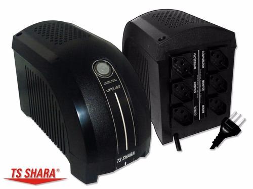 nobreak ts shara ups mini 500va monovolt 115v até 15 minutos