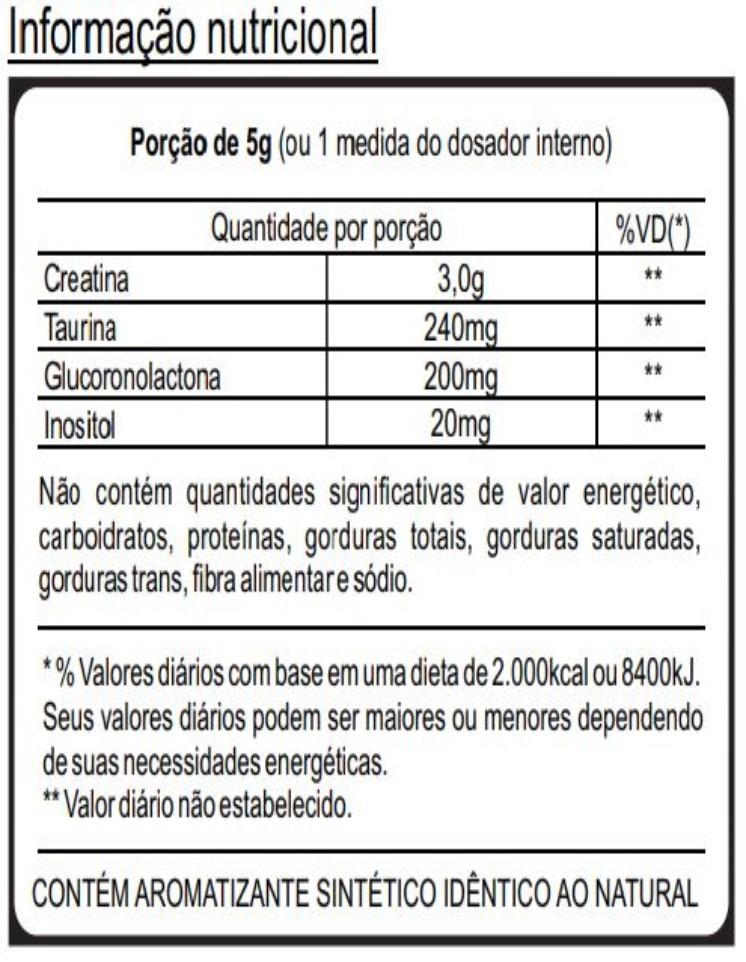 88582243b nocaute pré workout creatina e taurina - 250g limão. Carregando zoom.