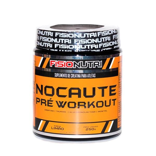 41c7210bb Nocaute Pré Workout Creatina E Taurina - 250g Limão - R  68