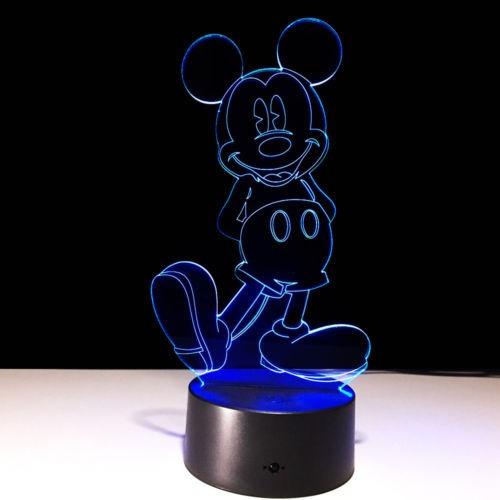 Acrílico Home Classic Noche Led Mickey Luz Lámpara Mouse srCQxBtdh