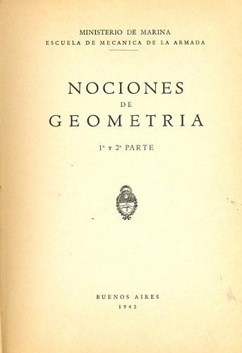 nociones de geometria 1er y 2da parte minist. de marina