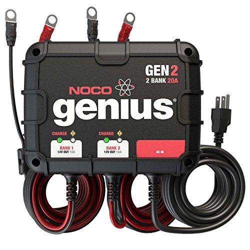noco genius gen2 20 amp 2 bandejas a prueba de agua cargador