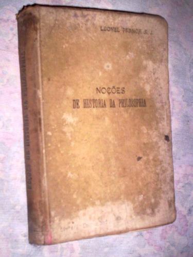 noções de historia da filosofia 1921