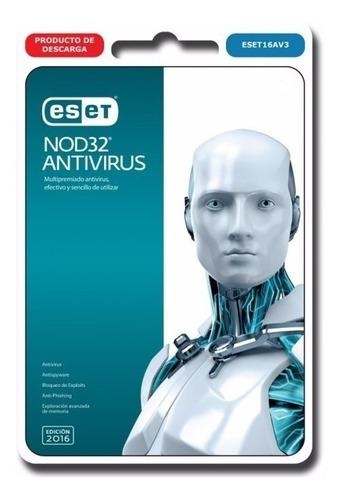 nod 32 antivirus 2018 2 pc 1 año + bono licencia original