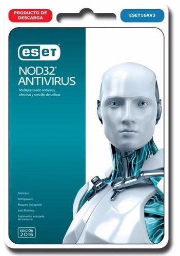 nod32 antivirus 2017 10 pc 2 años + bono licencia original