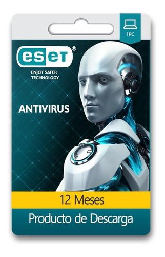 nod32 antivirus 2019 1 pc 1 año + bono licencia original
