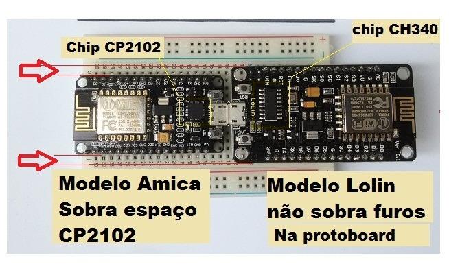 Nodemcu Amica Esp12 Esp8266 Cp2102 Wifi Wireless Pra Arduino
