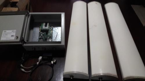 nodo 2.4 mikrotik + 3 panles hiperlink 120°