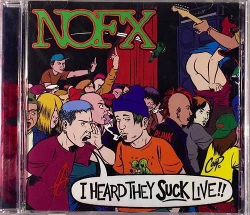 nofx - i heard they suck live - cd importado usa lacrado