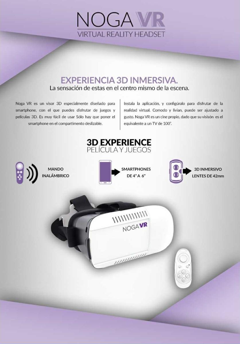 Noga Plus Box 360º Con Control 3d Vr Box Realidad Virtual 566 37