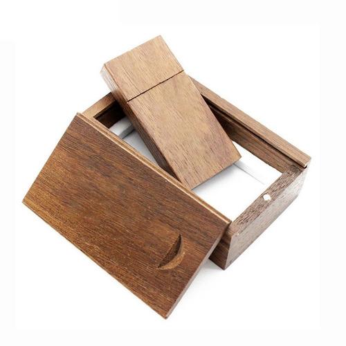 nogueira madeira foto álbum caixa caneta distância usb flash