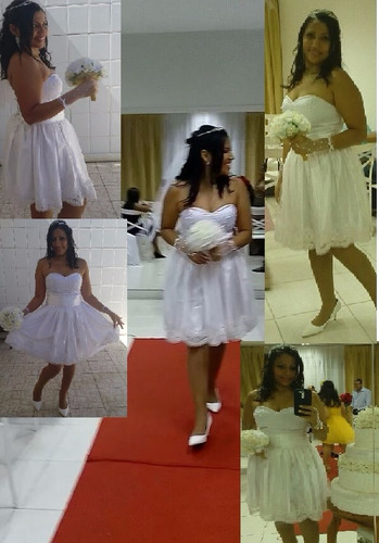 noiva curto vestido