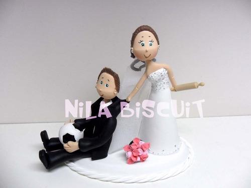 noivinhos fofinhos topo de bolo de biscuit personalizados