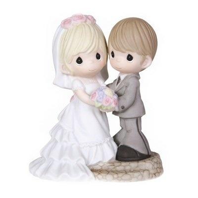 noivinhos topo de bolo - casamento - precious moments