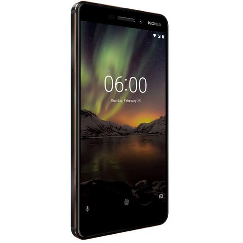 nokia 6 6.1 2018 64gb rom 4gb ram android one negro nuevo