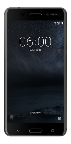 nokia 6 android lte pant. 5.5 fhd 32+3ram 16+8mpx negro msi