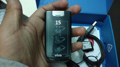 nokia 6600 fold.nuevo. flip phone.libre.$1999 con envío.