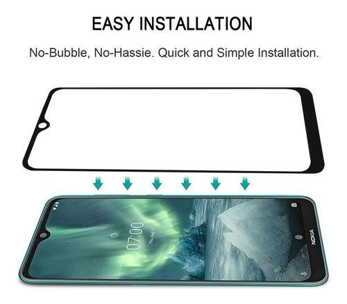 nokia 7.2 lámina vidrio templado full pantalla | kyrios