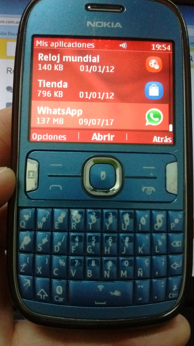 nokia asha 302 azul impecable whatsapp facebook personal rh articulo mercadolibre com ar Manual De Usuario iPad Manual De Usuario Samsung