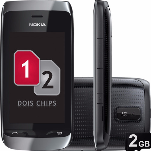 nokia asha 310 -02 chip,preto, novo vitrine,desbloq,wifi