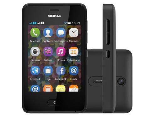 nokia asha 501 dual chip preto wi-fi cam 3.2mp | vitrine