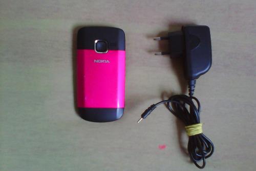 nokia c3 -original wi-fi querty  bom estado rosa desbloquead