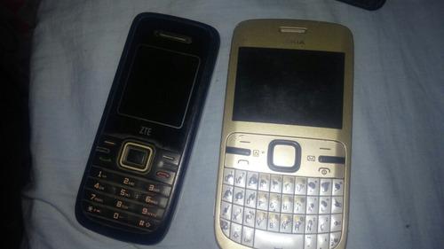 nokia c3 y zte s213 (celulares basicos)