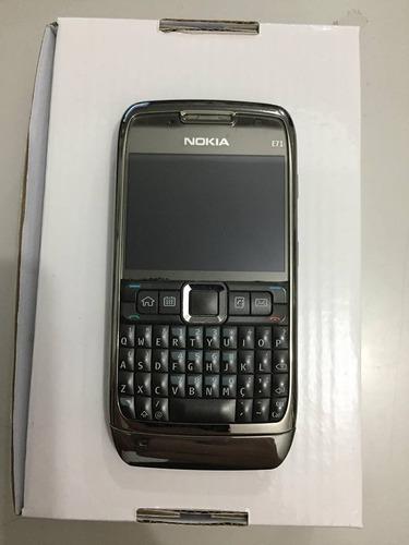 nokia e71 preto - 3mp c/ flash, só funciona vivo - usado
