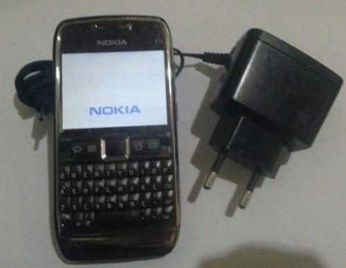nokia e71 preto-3mp c/ flash,vivo+carregador original(usado)