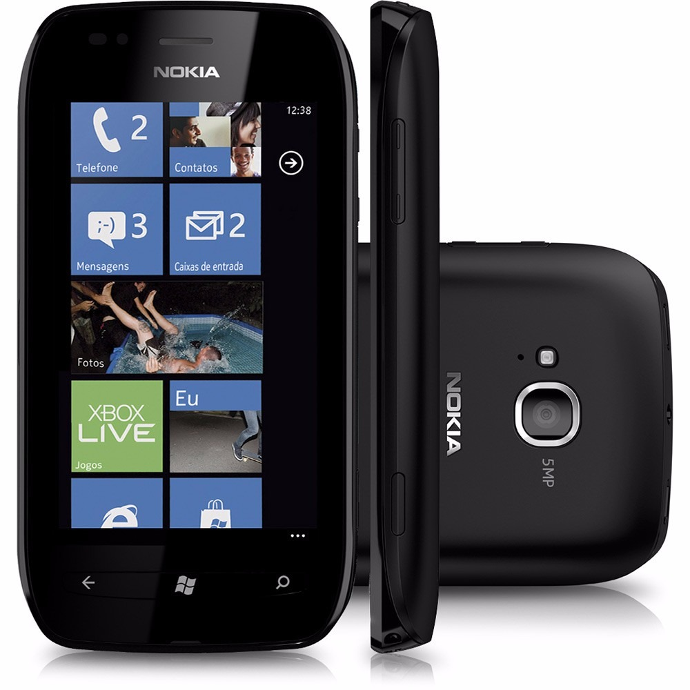 nokia lumia 710 windows phone 7 5 5mp 8gb de vitrine r 269 99 em mercado livre. Black Bedroom Furniture Sets. Home Design Ideas