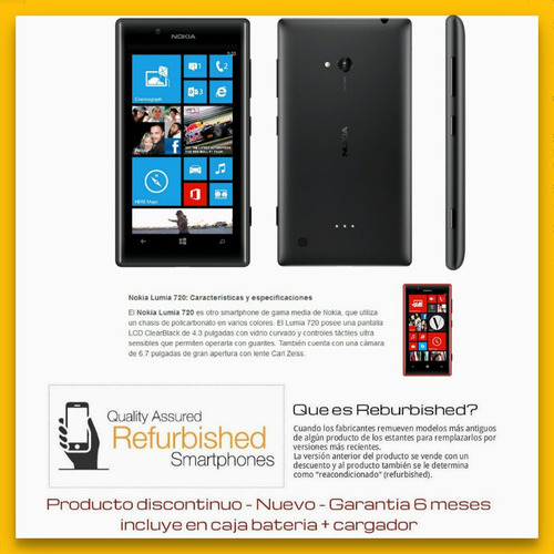 nokia lumia 720 smartphone libre windows 8gb red 3g lcd4.3''