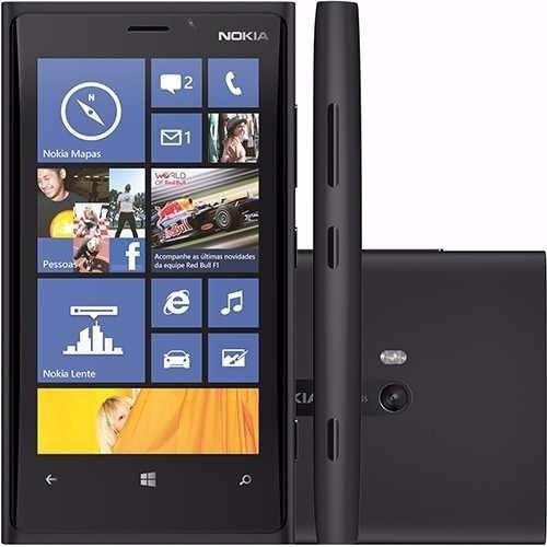 nokia lumia 920 preto 4g 32gb 8.7mp 2core windows phone8 4,5