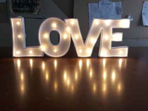 nombre iluminado 5 letras 50 cm polyfan envio gratis