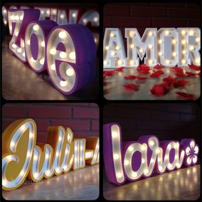 Nombre Letras Deco Led 3 Candybar Luces Polifan Eventos bfY76gy