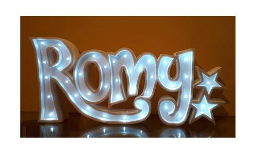 nombre luminoso 15 cm polyfan personalizado luz tu nombre