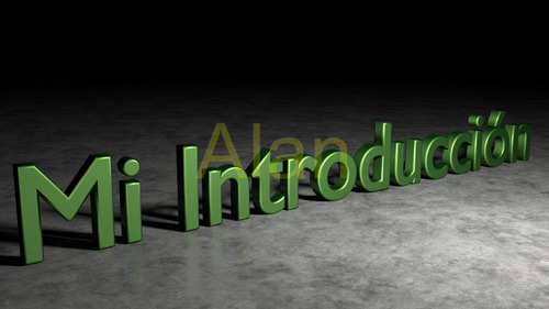nombre o logo de tu empresa en 3d