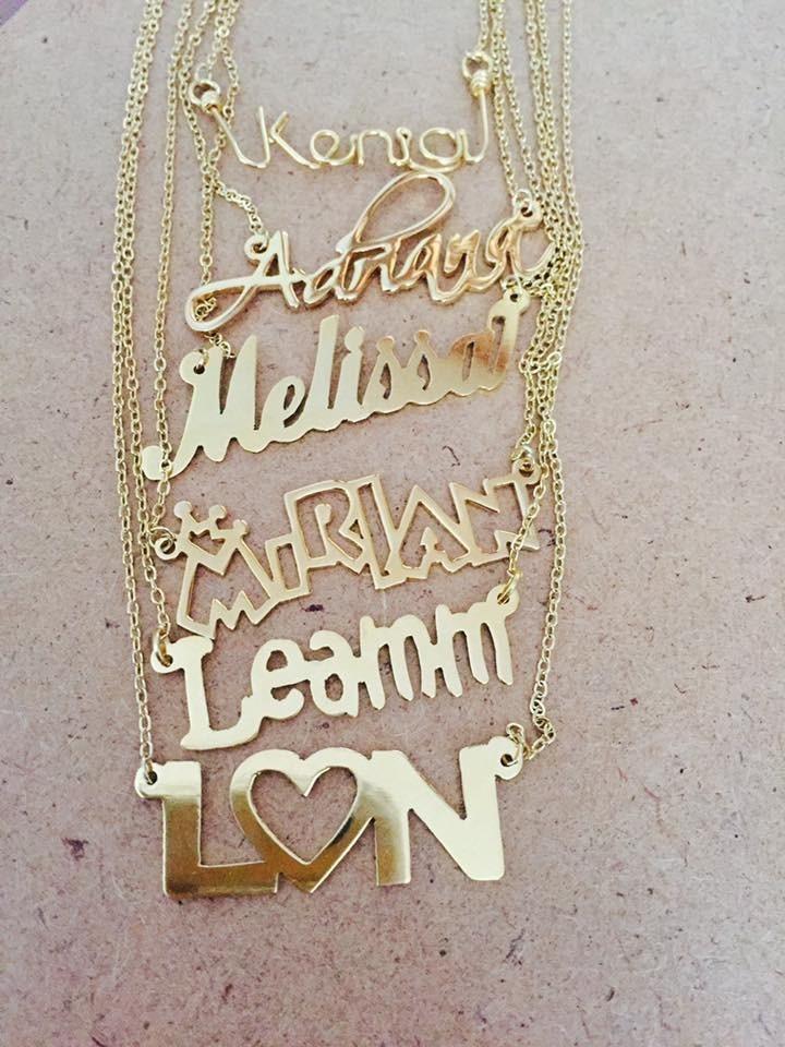 5f0c5fddc5dd nombre personalizado oro laminado 22k collar joyeria regalo. Cargando zoom.