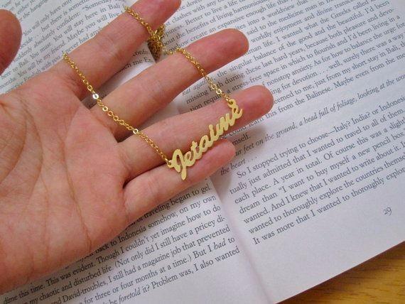 Nombre personalizado oro laminado iniciales letras collar for Cuanto sale hacer una pileta de material 2016
