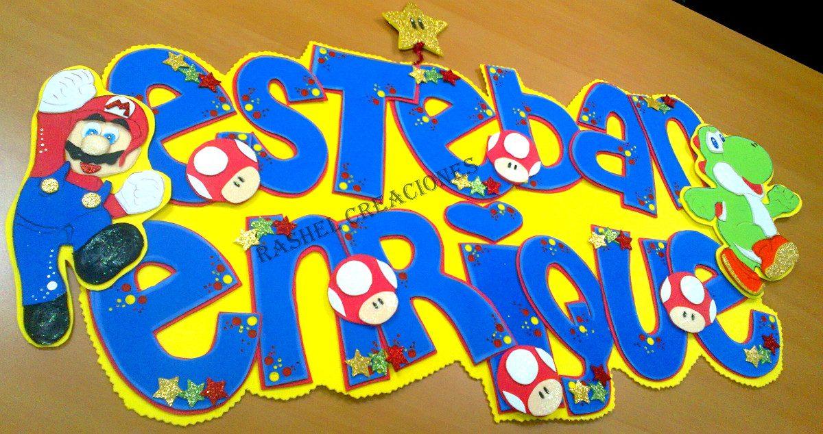 Nombres banners letreros cartel para su beb en foami for Escarapelas en foami