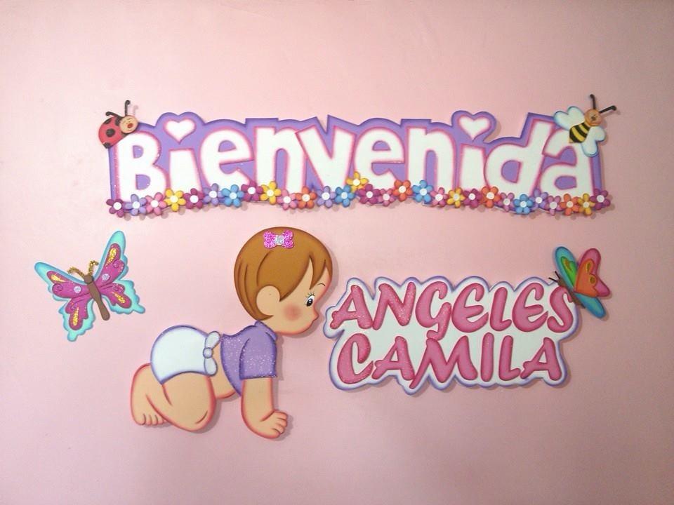 Nombres carteles bienvenidos en foami bs en - Letras infantiles para puertas ...